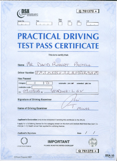 Dave Paskell's PCV License (click to enlarge)